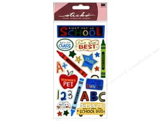 Back To School Stickers: EK Sticko Stickers First Day Of School