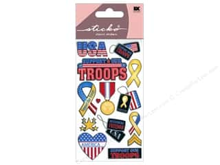 Independence Day EK Sticko Stickers: EK Sticko Stickers Support Our Troops