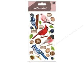 "Stickers 24"": EK Sticko Stickers Top US Birds 2"