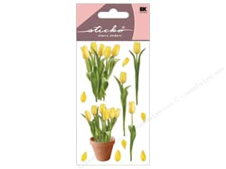 Tulip: EK Sticko Stickers Photo Flowers Yellow Tulips