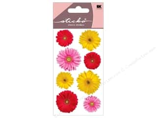picture flower: EK Sticko Stickers Photo Flowers Gerbera Mix