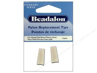 pliers flat nose: Beadalon Flat Nose Plier Replacement Tips 2 pc.