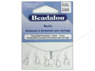 Beadalon Bails Pendant Pinch 11mm Silver Plate 5pc