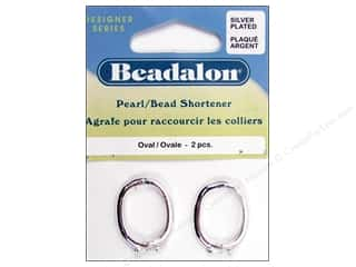 beadalon clasp: Beadalon Pearl/Bead Shortener Oval Silver 2pc