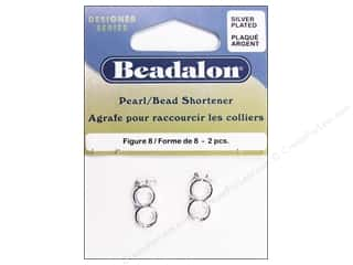Beadalon Pearl/Bead Shortener Figure 8 Silver Plated 2pc