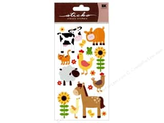Farms: EK Sticko Stickers Sparkler Farm Animals