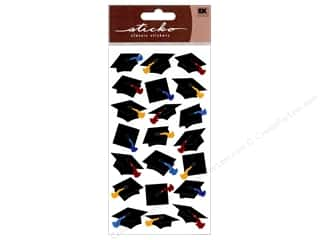 Graduations Black: EK Sticko Stickers Sparkler Grad Caps