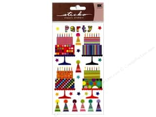 EK Sticko Stickers Sparkler Party Cakes N Hats