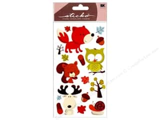 Fall / Thanksgiving EK Sticko Stickers: EK Sticko Stickers Forest Friends