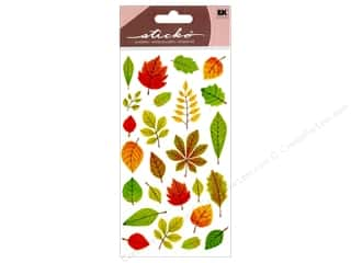 Paper Mache Fall / Thanksgiving: EK Sticko Stickers Elegant Fall Leaves