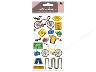 Winter EK Sticko Stickers: EK Sticko Stickers Biking