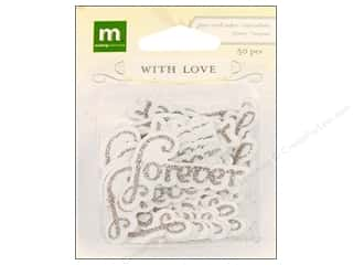 theme stickers  wedding: Making Memories Stickers With Love Wedding Glitter Word Forever