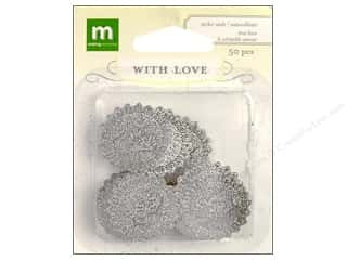theme stickers  wedding: Making Memories Stickers Seal With Love Wedding Round True Love Silver