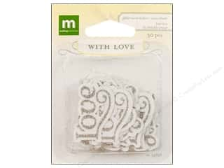 Love & Romance DieCuts Sticker: Making Memories Stickers With Love Wedding Glitter Word True Love
