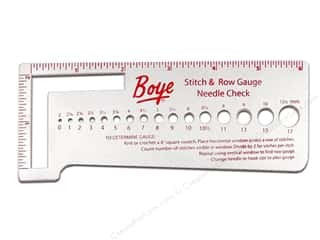 Boye Accessories Stitch & Row Gauge Metal
