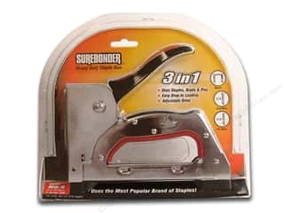 Staples Craft & Hobbies: Surebonder Staple Gun Heavy Duty #4  3 in 1