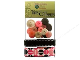 Clearance Buttons Galore Trims & Treasures: Buttons Galore Trims & Treasures Retro Pink