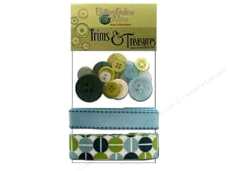 Buttons Galore Trims &amp; Treasures Retro Blue