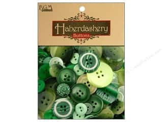 Sewing & Quilting Buttons: Buttons Galore Haberdashery Buttons Classic Green