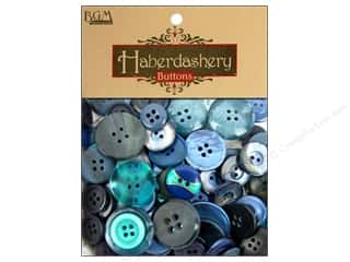 Sew-on Buttons: Buttons Galore Haberdashery Buttons Classic Blues