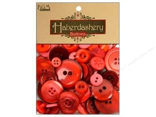 Buttons Sew-on Buttons: Buttons Galore Haberdashery Buttons Classic Reds