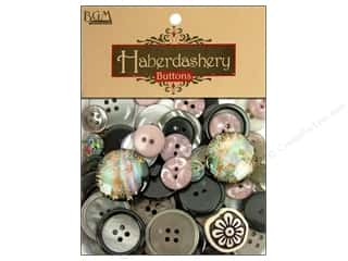 Sewing & Quilting Buttons: Buttons Galore Haberdashery Classic Buttons Black/Silver