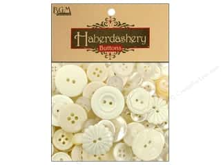 Buttons Galore & More Christmas: Buttons Galore Haberdashery Classic Buttons Ivory/Pearl