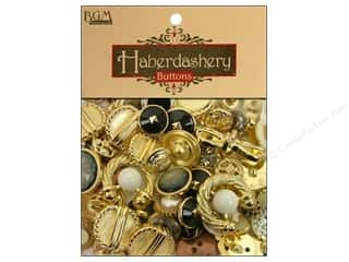 buttons: Buttons Galore Haberdashery Buttons Gold/Silver