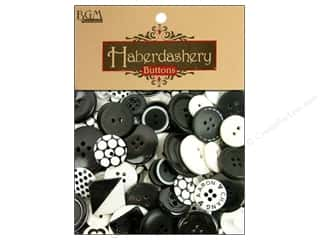 Sew-on Buttons: Buttons Galore Haberdashery Buttons Black & White