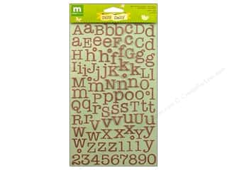 alphabet stickers: Making Memories Stickers Dilly Dally Shimmer Alpha