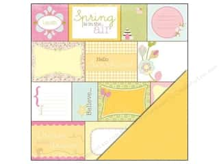 Spring Printed Cardstock: Making Memories Paper 12x12 Dilly Dally Word Block (25 sheets)