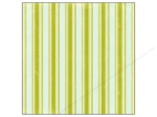 "Making Memories Paper 12""x 12"" Dilly Dally Glitter Scallop Stripe"