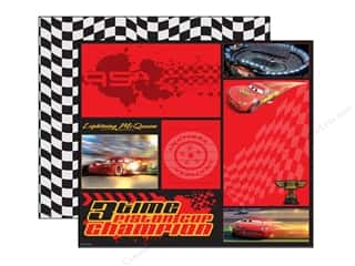 EK Paper 12x12 DS Disney Cars McQueen Color Block (25 sheets)