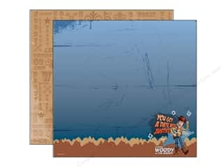 "Toys Brown: EK Paper 12""x 12"" Bulk Double-Sided Disney Woody Justice (25 sheets)"