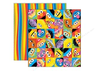 EK Paper 12x12 DS Sesame Street Character Faces (25 sheets)