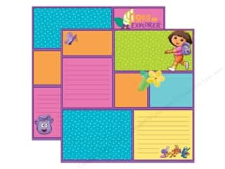 Nickelodeon Paper 12x12 DS Dora Color Block (25 sheets)