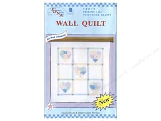 Jack Dempsey Wall Quilt 36&quot; Sq Patchwork Hearts
