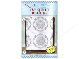 Jack Dempsey Quilt Blocks 18&quot; 6pc Hearts
