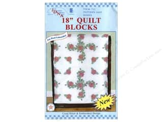 Jack Dempsey Quilt Blocks 18&quot; 6pc Roses
