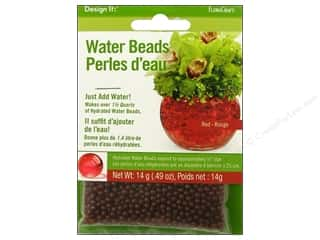 Floral Supplies Anniversaries: FloraCraft Water Beads Dehydrated Red