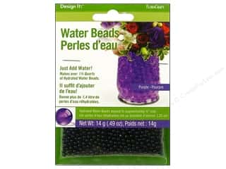 Graduations Floral Supplies: FloraCraft Water Beads Dehydrated Purple