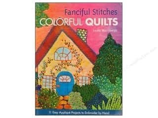 needlework book: Fanciful Stitches Colorful Quilts Book