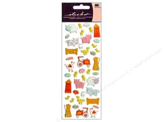 EK Sticko Stickers Puffy Baby Farm Animals