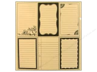 Cards &amp; Envelopes  2.5 x 2.5: Jenni Bowlin Journaling Card Set Vntg Black/Cream