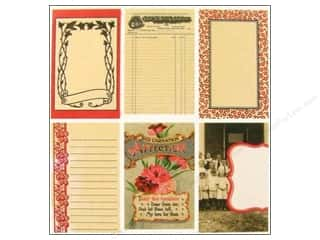 Cards &amp; Envelopes  2.5 x 2.5: Jenni Bowlin Journaling Card Set Rd/Blk Line Ext#3