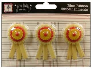 button: Jenni Bowlin Sticker Plastic Ribbon Celebrate