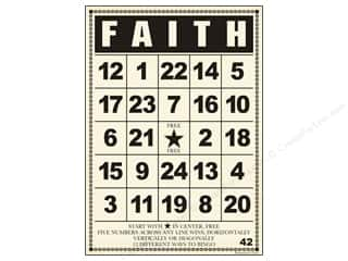 "button: Jenni Bowlin Bingo Cards Bulk 5""x 7"" Faith (10 pieces)"