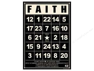 "Cards: Jenni Bowlin Bingo Cards Bulk 5""x 7"" Faith Black (10 pieces)"