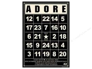 "Jenni Bowlin Bingo Cards Bulk 5""x 7"" Adore Black (10 pieces)"