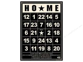 button: Jenni Bowlin Bingo Cards Bulk 5&quot;x 7&quot; Home Black (10 pieces)
